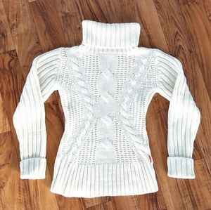 White knit sweater by Castro